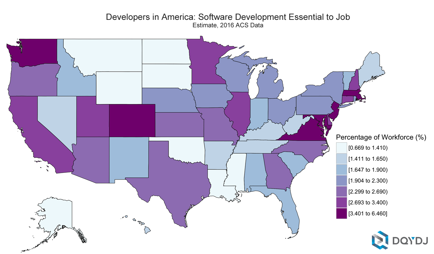 How Many Software Engineers Are There In The US How Many IT - Java developer jobs us map